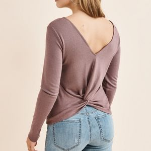Dynamite Twist Back Sweater